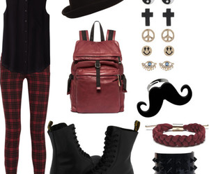 fashion, moustache, and Polyvore image