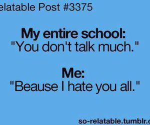 school, hate, and me image