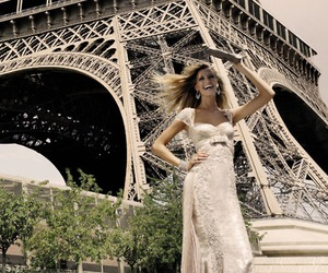 clutch, dress, and eiffel tower image