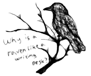 alice in wonderland, text, and bird image