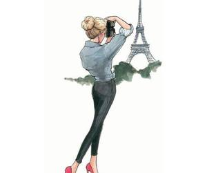 paris, photography, and drawing image