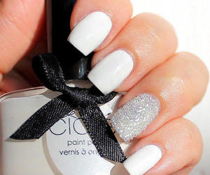 cute, nails, and white image