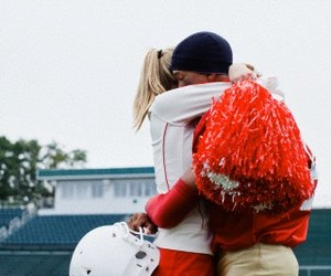 american football, cheerleading, and cheerleader image