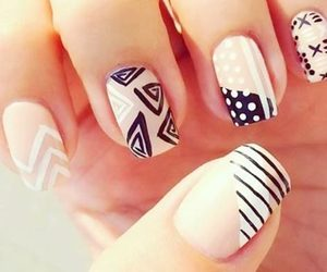 beautiful, nail art, and beige image