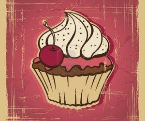 cupcake, vintage, and pink image