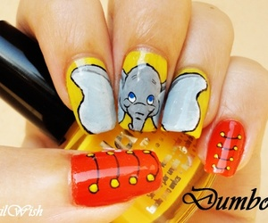 dumbo, nails, and disney image