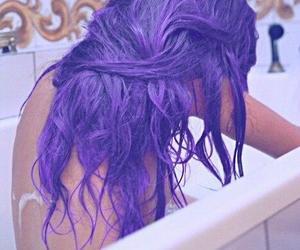 bath, coloured, and girl image