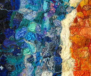 beach, embroidery, and fibre image