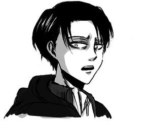 anime, black and white, and levi image