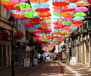 color, colorful, and umbrellas image