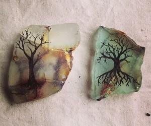 tree, art, and stone image