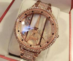 paris, watch, and gold image