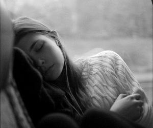 girl, sleep, and music image