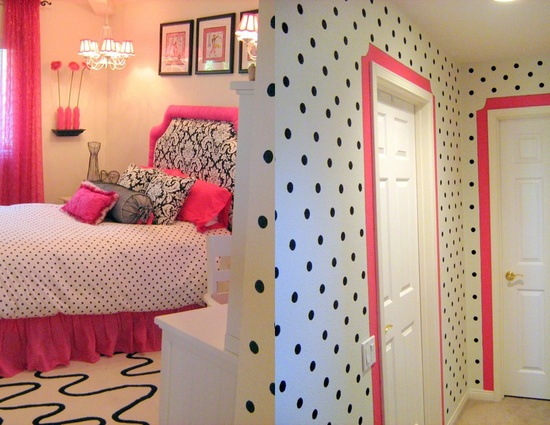 Cute Pink Black And White Bedroom Love This Room Next Time I Decorate Lizzys She Will Be Getting Something Close To The