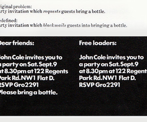blackmail, party invite, and freeloaders image