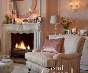 country, cozy, and fireplace image