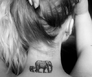 elephant, cute tattoo, and cute image