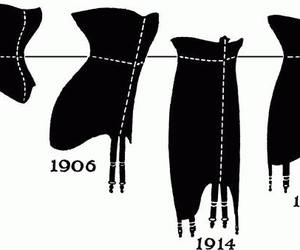 corset, moda, and corselet image