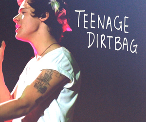 Harry Styles, one direction, and teenage dirtbag image