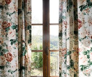 window, vintage, and flowers image