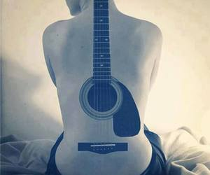 guitar, tattoo, and music image