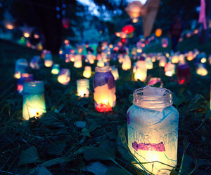 colors, grass, and lanterns image