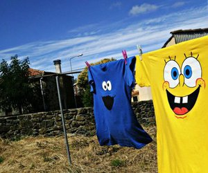 spongebob, cookie monster, and shirt image