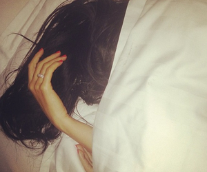 girl, hair, and sleep image