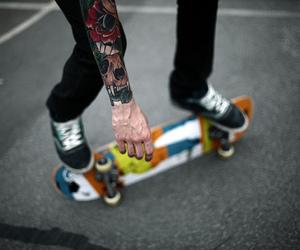skate, tattoo, and boy image