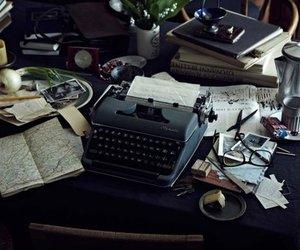 typewriter and desk image