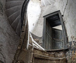 stairs, spiral, and abandoned image