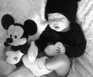*, baby, and black and white image