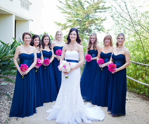 blue, bridal party, and bride image