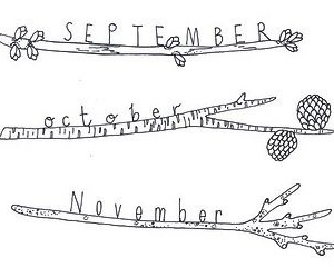 September, november, and october image