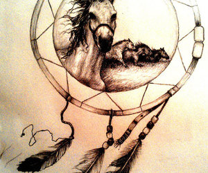 Dream, horses, and tattoo image