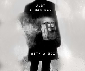 doctor who, tardis, and the doctor image
