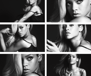 black and white, quotes, and rihanna image