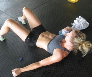 abs, skinny, and workout image