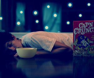 boy, cereal, and cap'n crunch image
