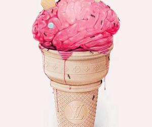 ice cream, brain, and ants image