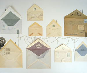 envelope, house, and art image