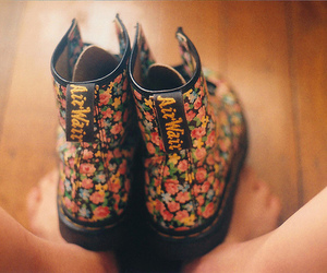 boots, floral, and flowers image