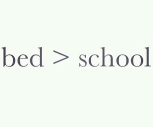 bed, school, and quote image