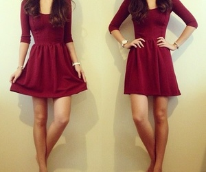 dress, red, and style image