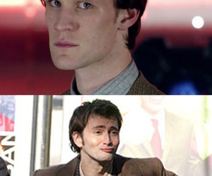 david tennant, matt smith, and eyebrows image