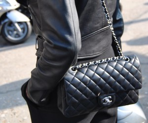black, chanel, and fashion image