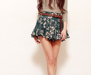brunette, girl, and fashion image