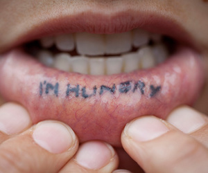 hungry, tattoo, and cool image