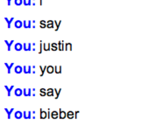 chat, justin bieber, and lol image