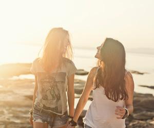 beach, girls, and lesbian image